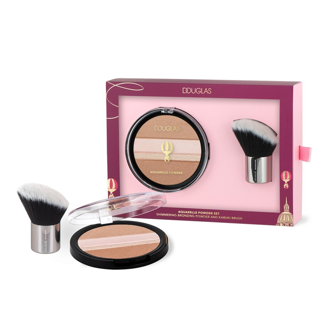 Douglas Collection - Aquarelle Powder Bronzer + Brush Set -
