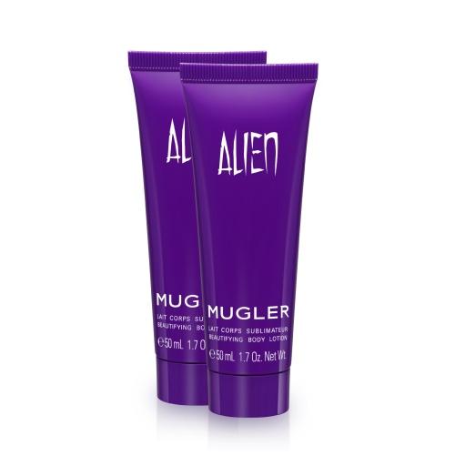 Oferta de duas loções de corpo Alien 50ml em compras iguais ou superiores a 50 euros na Mugler