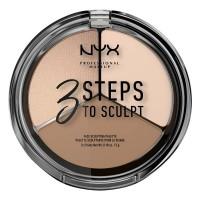 NYX Professional Makeup 3 Steps To Sculpt Palette