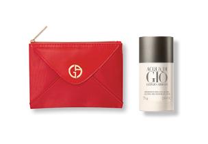 Armani - NA compra de um perfume de igual ou superior a 75ml oferta de uma bolsa ou desodorizante
