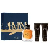 Giorgio Armani Stronger With You For Him Eau de Toilette Spray 100Ml Set
