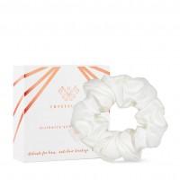 Crystallove Silk Srunchie Ivory