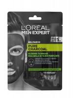 L'Oréal Paris Men Expert Pure Charcoal Máscara Tecido