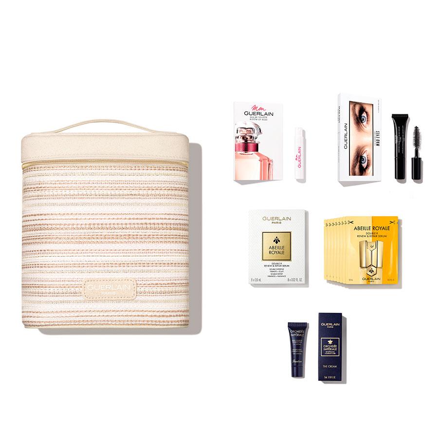 Oferta bolsa Guerlain na compra de mínima de 90€ de artigos da marca.